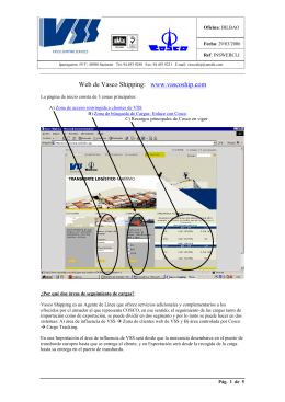 Web de Vasco Shipping - Vasco Shipping Services