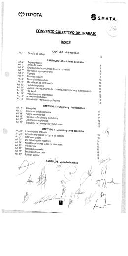 TOYOTA CONVENID COLECTIVO) DE TRABAJO S.M.A.-