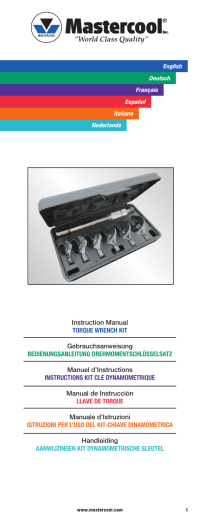 Instruction Manual TORQUE WRENCH KIT