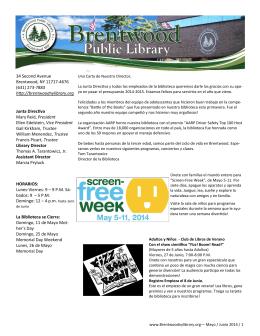 Conozca sus derechos - Brentwood Public Library