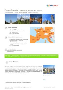 Europa Esencial De Barcelona a Roma - A tu alcance!