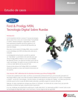 Estudio de casos Ford & Prodigy MSN, Tecnología Digital Sobre