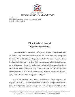 sentencia - Suprema Corte de Justicia