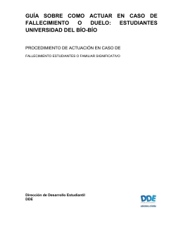 Guía en caso de fallecimiento UBB - Universidad del Bío-Bío