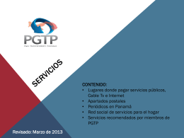 Servicios 2013
