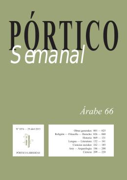 Árabe 66 - Pórtico librerías