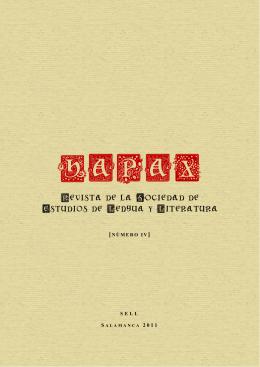 Revista de la Sociedad de Estudios de Lengua y Literatura