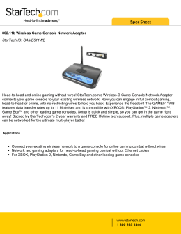802.11b Wireless Game Console Network Adapter