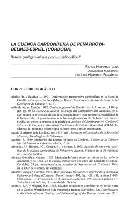 la cuenca carbonífera de peñarroya- belmez-espiel