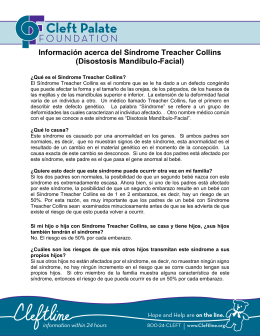Información acerca del Síndrome Treacher Collins