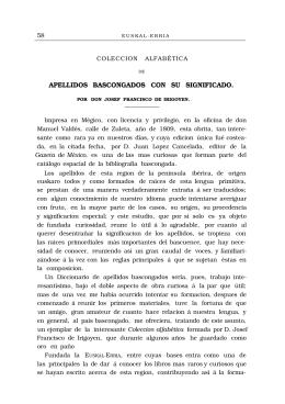 APELLIDOS BASCONGADOS CON SU SIGNIFICADO.