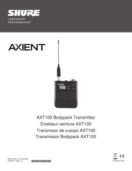 AXT100 Bodypack Transmitter Émetteur ceinture AXT100