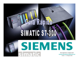 Guía rápida de SIMATIC S7-300 - Carol Automatismos Igualada SA