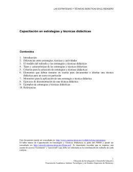 Capacitación en estrategias y técnicas didácticas