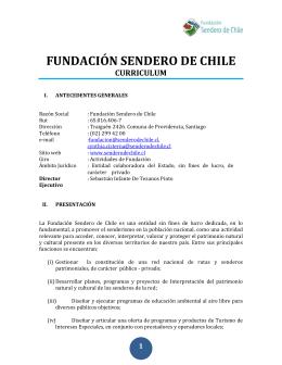 Curriculum vitae - Sendero de Chile