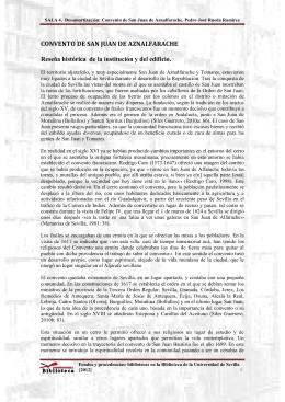 SALA 4. Desamortización: Convento de San Juan de Aznalfarache