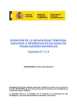 DURACIÓN DE LA INCAPACIDAD TEMPORAL