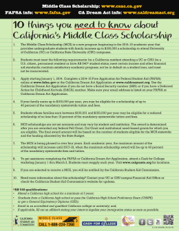 10 things you need to know about California`s Middle Class