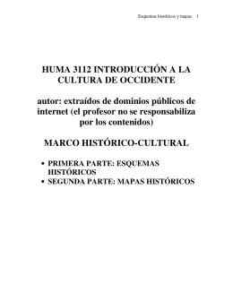 MARCO HISTORICO CULTURAL ESQUEMAS Y MAPAS