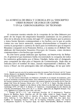 LA AUSENCIA DE IBIZA Y CORCEGA EN LA