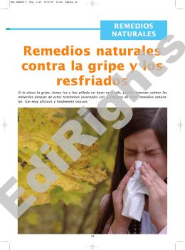 Remedios naturales contra la gripe y los resfriados