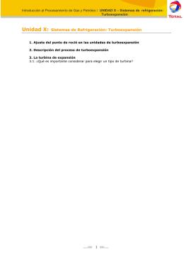 Unidad X: Sistemas de Refrigeración: Turboexpansión 1
