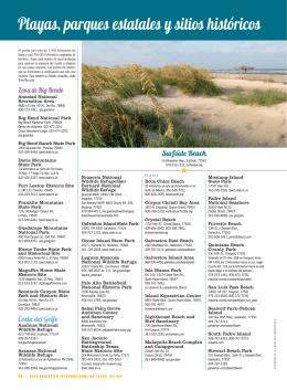Playas, parques estatales y sitios históricos