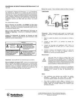 Amplificador de Señal Profesional Bi-Direccional 1 a 4