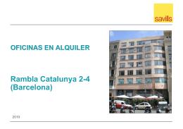 OFICINAS EN ALQUILER Rambla Catalunya 2-4 (Barcelona)