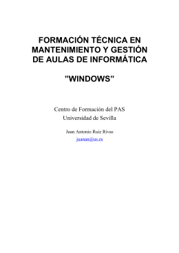 Windows para mantenimiento de aulas informatica