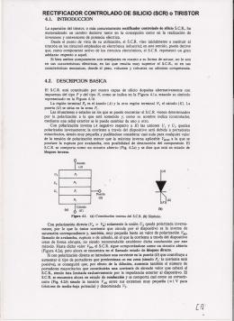 RECTIFICADOR CONTROLADO DE SILICIO (SCR) o TIRISTOR