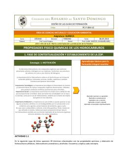 propiedades fisico quimicas de los hidrocarburos