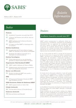 Boletín Marzo 2015