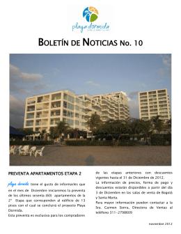 BOLETÍN DE NOTICIAS No. 10
