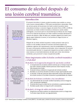 El consumo de alcohol después de una lesión cerebral traumática