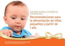 Recomendaciones para la alimentación de niños pequeños: a partir