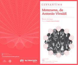 Motezuma, de Antonio Vivaldi - Festival Internacional Cervantino