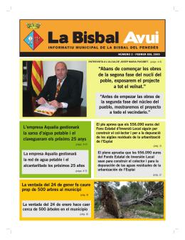 Revista Bisbal Avui núm.02 - Ajuntament de la Bisbal del Penedès