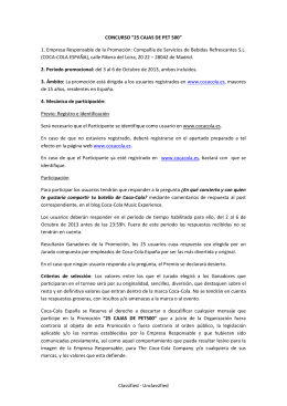 "Classified - Unclassified CONCURSO ""25 CAJAS DE PET 500"" 1"