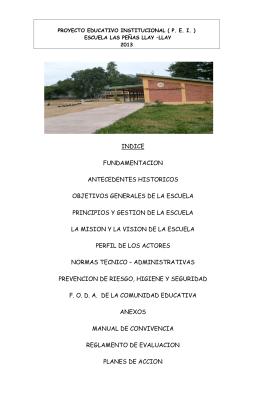 PROYECTO EDUCATIVO INSTITUCIONAL ( P - DAEM LLAY-LLAY