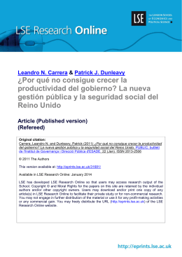 - LSE Research Online