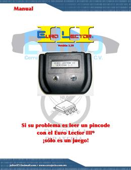 Manual Euro Lector III