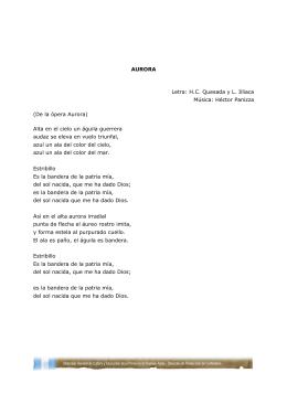 AURORA Letra: H.C. Quesada y L. Illiaca Música
