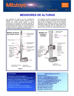 MEDIDORES DE ALTURAS