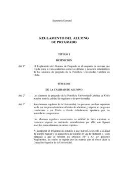 Reglamento del Alumno de Pregrado UC