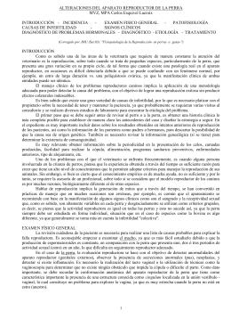 ALTERACIONES DEL APARATO REPRODUCTOR DE LA PERRA