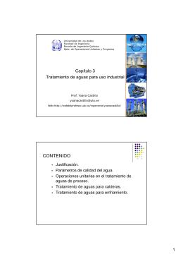 Tratamiento de aguas de uso industrial - Web del Profesor