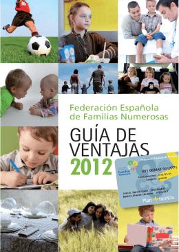 Guía de Ventajas 2012 - Federación Española de Familias