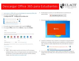 Descargar Office 365 para Estudiantes