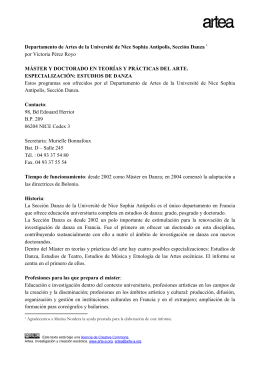 Sección Danza, UNSA _ Niza - Archivo Virtual de Artes Escénicas